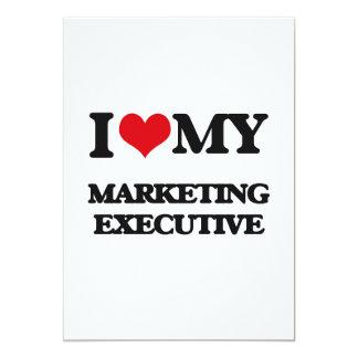 """I love my Marketing Executive 5"""" X 7"""" Invitation Card"""