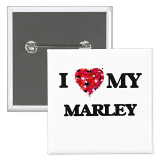 I love my Marley 15 Cm Square Badge