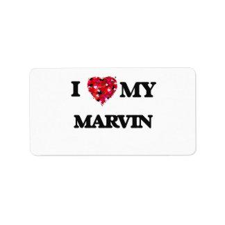 I love my Marvin Address Label