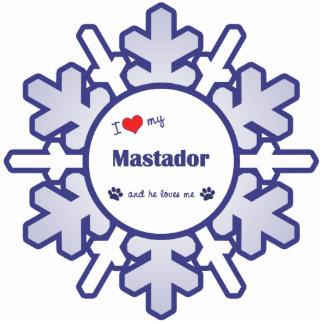 I Love My Mastador (Male Dog) Photo Sculpture Decoration