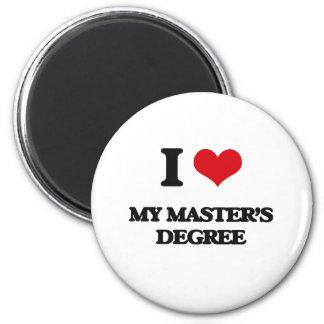 I Love My Master'S Degree Refrigerator Magnets