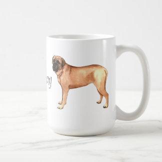 I Love my Mastiff Basic White Mug