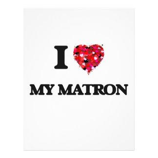 I Love My Matron 21.5 Cm X 28 Cm Flyer