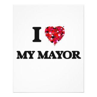 I Love My Mayor 11.5 Cm X 14 Cm Flyer
