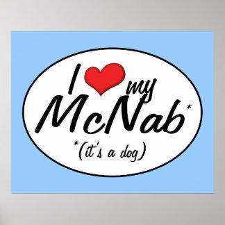 I Love My McNab (It's a Dog) Print