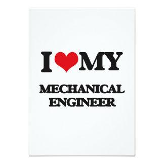 I love my Mechanical Engineer 13 Cm X 18 Cm Invitation Card