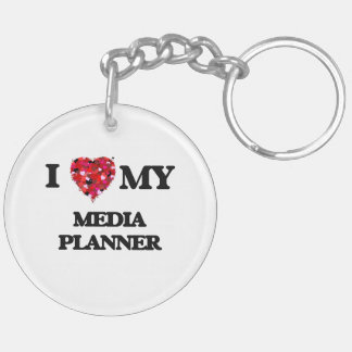 I love my Media Planner Double-Sided Round Acrylic Key Ring