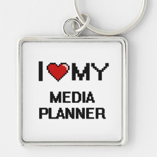 I love my Media Planner Silver-Colored Square Key Ring