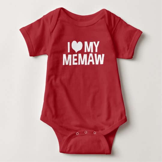 I Love My MeMaw Baby Bodysuit