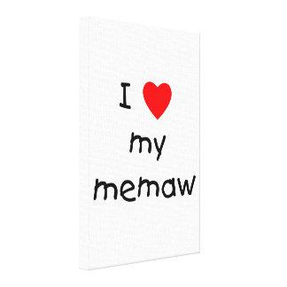 I love my memaw canvas prints