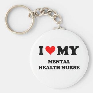 I Love My Mental Health Nurse Key Ring