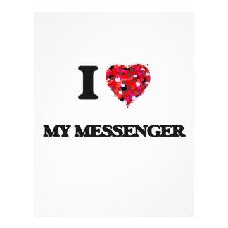 I Love My Messenger 21.5 Cm X 28 Cm Flyer