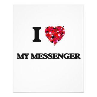 I Love My Messenger 11.5 Cm X 14 Cm Flyer