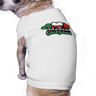 I Love My Mexican Girlfriend Sleeveless Dog Shirt