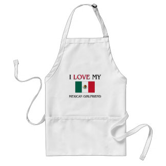 I Love My Mexican Girlfriend Standard Apron