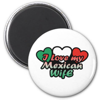 I Love My Mexican Wife 6 Cm Round Magnet