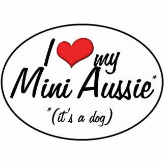 I Love My Mini Aussie (It's a Dog) Photo Cutouts