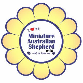I Love My Mini Australian Shepherd Mix (Male Dog) Cut Out