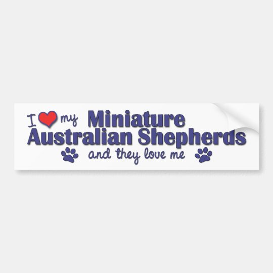 I Love My Mini Australian Shepherds (Multi Dogs)