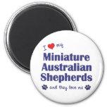 I Love My Mini Australian Shepherds (Multi Dogs) Magnets