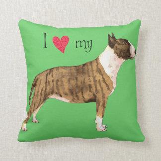 I Love my Mini Bull Terrier Pillow