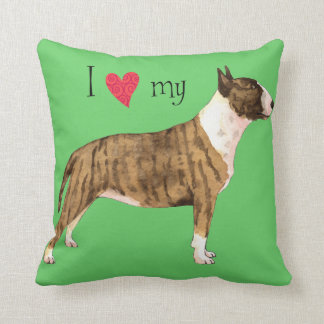 I Love my Mini Bull Terrier Throw Cushion