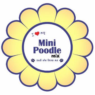 I Love My Mini Poodle Mix (Female Dog) Cut Out