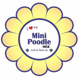 I Love My Mini Poodle Mix (Male Dog) Acrylic Cut Outs