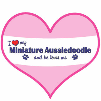 I Love My Miniature Aussiedoodle (Male Dog) Photo Cutouts