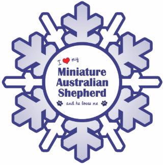 I Love My Miniature Australian Shepherd (Male Dog) Photo Sculpture Decoration