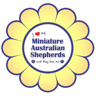 I Love My Miniature Australian Shepherds (Multi) Photo Sculpture Decoration