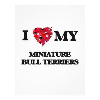 I love my Miniature Bull Terrier 21.5 Cm X 28 Cm Flyer