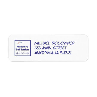 I Love My Miniature Bull Terriers (Multiple Dogs) Return Address Label