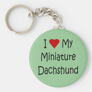 I Love My Miniature Dachshund Dog Lover Gifts Basic Round Button Key Ring
