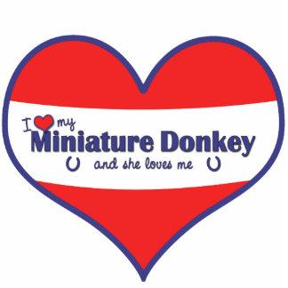 I Love My Miniature Donkey (Female Donkey) Standing Photo Sculpture