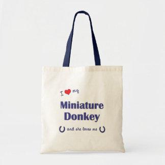 I Love My Miniature Donkey (Female Donkey) Tote Bag