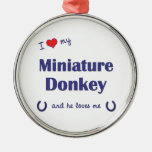 I Love My Miniature Donkey (Male Donkey) Christmas Tree Ornament