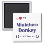I Love My Miniature Donkey (Male Donkey) Square Magnet