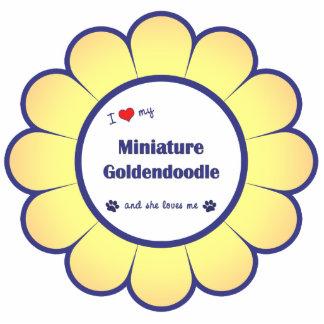 I Love My Miniature Goldendoodle (Female Dog) Photo Sculptures