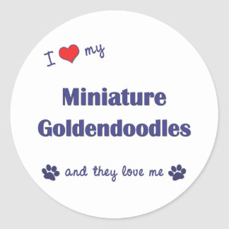 I Love My Miniature Goldendoodles (Multiple Dogs) Classic Round Sticker