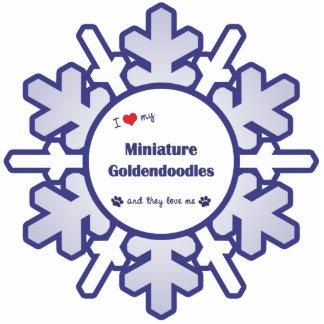 I Love My Miniature Goldendoodles (Multiple Dogs) Photo Sculpture Decoration
