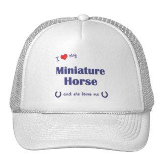 I Love My Miniature Horse (Female Horse) Hats