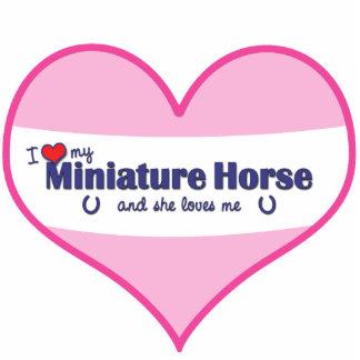 I Love My Miniature Horse (Female Horse) Standing Photo Sculpture