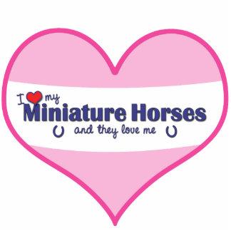 I Love My Miniature Horses (Multiple Horses) Standing Photo Sculpture