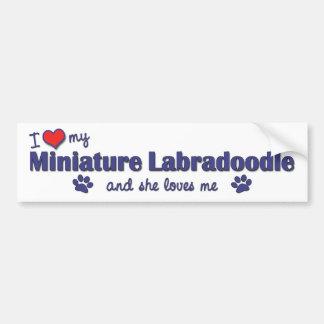 I Love My Miniature Labradoodle (Female Dog) Bumper Sticker