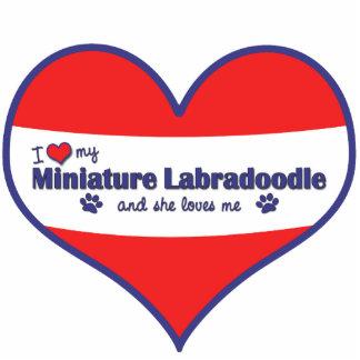 I Love My Miniature Labradoodle (Female Dog) Photo Sculpture Decoration
