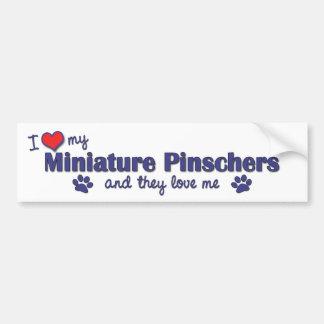 I Love My Miniature Pinschers (Multiple Dogs) Bumper Sticker
