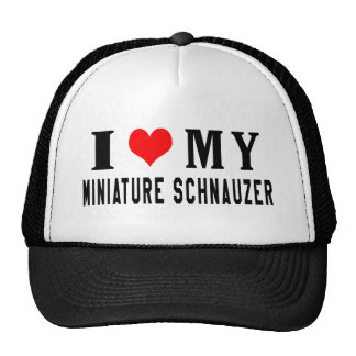 I Love My Miniature Schnauzer Cap