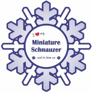 I Love My Miniature Schnauzer (Male Dog) Photo Sculpture Decoration