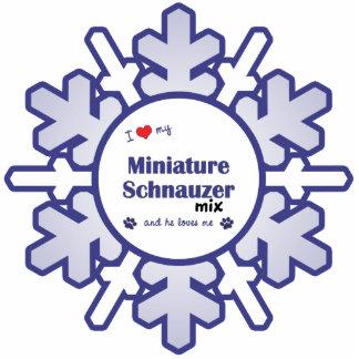 I Love My Miniature Schnauzer Mix (Male Dog) Photo Cutout